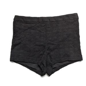 Free People high waist black lace shorts